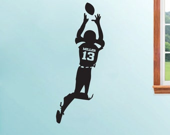 Custom Football Player - Personalized Sports Wall Decals