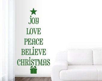 Christmas Tree Words   Seasonal Christmas Wall Decals
