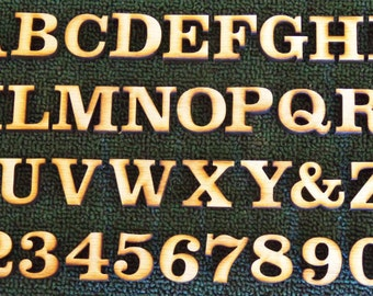 2 inch wood letters and numbers laser cut