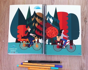 notebook bike at the forrest