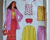New Look 6874 Misses Easy Sarong, Tank, Tube Top, Skirt Size 6-16 UNCUT