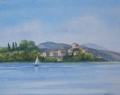 Sailing on Lake Bolsena...