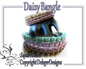 Daisy Bangle -Tila Beading Pattern Tutorial