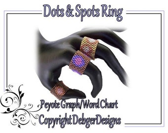 Dots and Spots Rings - Beading Pattern Tutorial (Double Peyote)