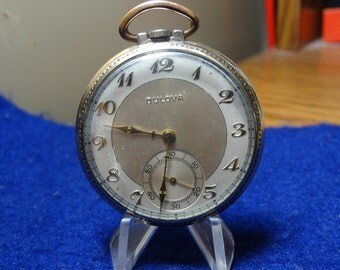 Vintage Bulova 17 Jewels Pocket Watch In 10K RGP Case