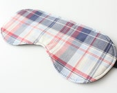 Plaid Sleep Mask | Eye Mask | Father's Day Gift  | Travel Accessory  | Gift for Dad