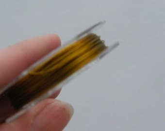 1 Roll tiger tail beading wire 10 metre gold 0.38