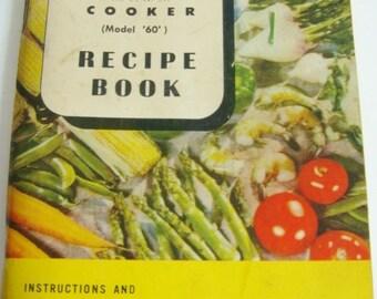 Presto Cooker Instruction Book -  Recipe Book Model 60