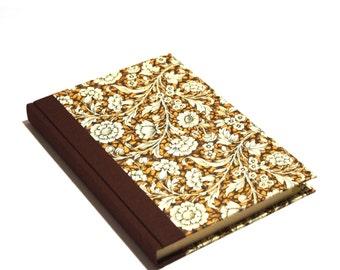 Large Address Book Renaissance Flower brown, A5 Telephone Book