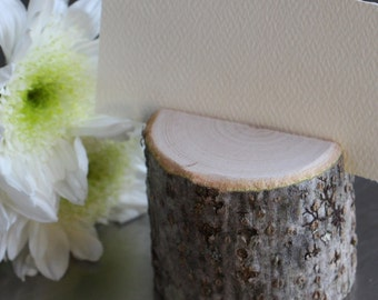 Woodland Branch Escort Name Card Holders - Set of 10 - Elegant Rustic Chic Wedding, Photographs, Artwork Display, Craft Fair Display