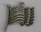 Vintage Sterling Silver  Flag Charm