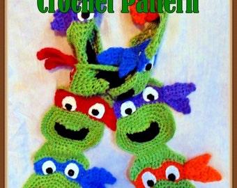 Masked Turtle Scarf Crochet Pattern – INSTANT DOWNLOAD