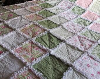 Rag quilt, shabby rag quilt, bedspread, baby rag quilt, twin rag quilt, queen rag quilt