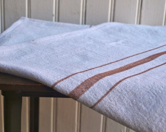 French Grainsack Style Table Runner - Brown 15 x 59.5