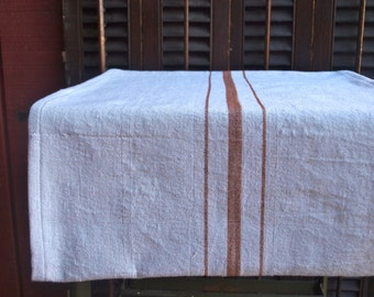 French Grainsack Style Table Runner - Brown 21 x 102