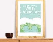 The Quiet Man, Wild Colonial Boy Modern Irish Trad Poster