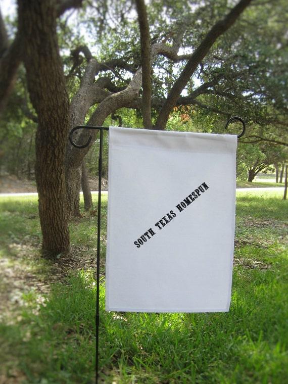 5 White Canvas Garden Flags Blank Ready To By Southtexashomespun