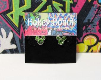 Mickey Mouse August Birthstone Stud Earrings