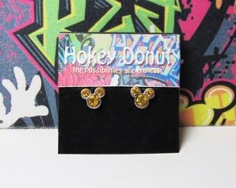 Mickey Mouse November Birthstone Stud Earrings
