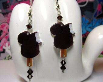 Mickey Mouse Ice Cream Dangle Earrings