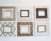 Set of 6- 8x10 Metallic Distressed Mod Gallery Wall Frames