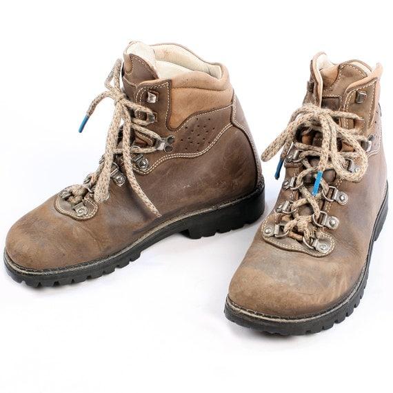 vintage survivor boots camel brown nubuck leather 90s