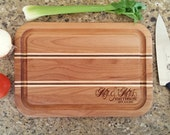 Personalized Seasoned with Love Cutting Board Custom Wood Cutting Board