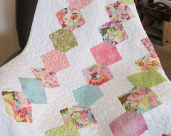 Party Lanterns Lap Quilt With Minkie Backing