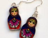 Russian Doll Earrings, Babushka Doll Earrings