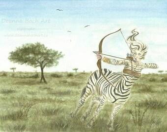 "ORIGINAL ART ""On the Plains"" fantasy fairy gothic art by Deanna Bach Art"