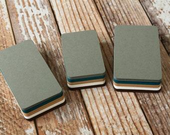 50pc AUTUMN Colours Lakeland Series Business Card Blanks