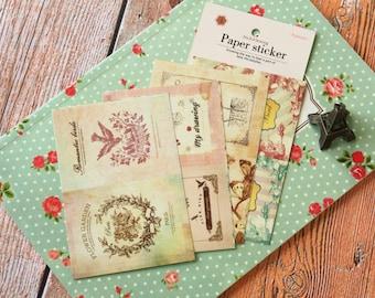 04 ROMANTIC BIRDS Dailylike Stick & Sewing paper stickers
