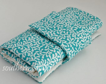 Knitting Needle Case for Interchangeable Tips and Circulars - Turquoise