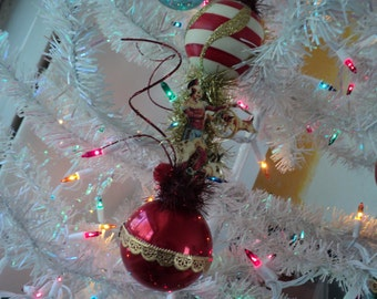 juggling french clown christmas ornament