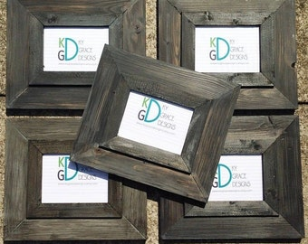 Frame painted to look like driftwood Comes in various sizes Choose size from drop down menu to the right