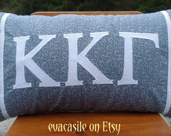 Kappa Kappa Gamma Sorority Appliqued Pillow (KKG2014-12-3)