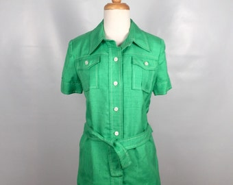 Vintage Neiman Marcus Bright Green Safari Jacket