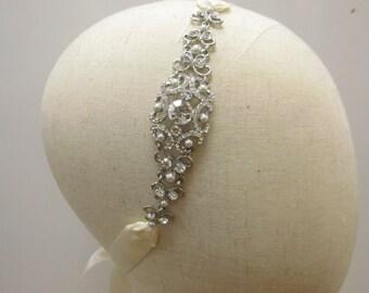 Wedding headband pearl Bridal headband Wedding tiara Wedding hair accessories Wedding crown Wedding hair jewelry Bridal tiara Bridal crown