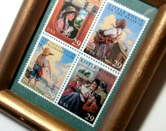 Framed Postal Stamps, Childrens Literature Framed Postage Stamps, Framed Teacher Gift, Framed Commerative Stamps,1993 Framed Postage Stamps,