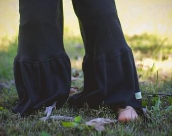 Ruffle Pants. Little Girl's Ruffle Pants. Black Ruffle Pants. Fall Outfit, Pink Ruffle Pant, Grey Ruffle Pant
