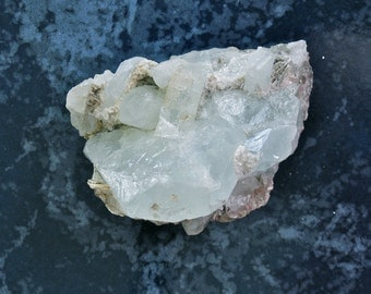 Beryl and Muscovite Crystal, Aquamarine