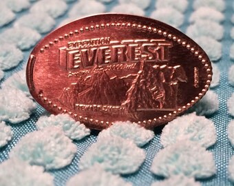 CLEARANCE! Disney's Expedition Everest pressed penny adjustable ring - Animal Kingdom - Yeti