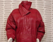 Jacket - Leather - DARK Red - Medium