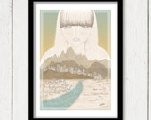 "Lady Of The Canyon, Art Print 8""x12"""