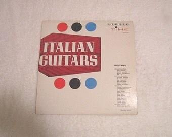 """Vintage """"Italian Guitars"""" Record Album"""