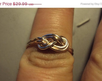 Etsy jewelry, infinity knot, double infinity knot ring, any metals mixed, sizes 4 and up, new design