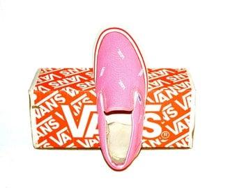 VANS Vintage Pink Logo Sneakers - DEADSTOCK - AUTHENTIC -