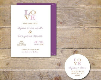 Love, Save The Dates, Wedding Save The Dates, Rustic Save the Dates, Summer Weddings- LOVE
