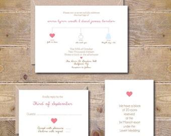 Timeline Wedding Invitations, Modern Invitations, Simple Wedding Invitations, Summer Wedding, Casual Wedding - Special Moments