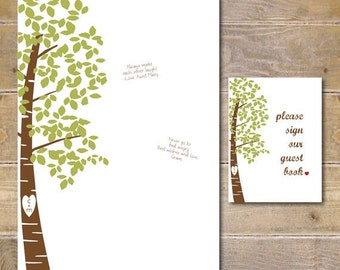 Wedding Guestbook, Unique Guestbook, Guestbook Print, Hanging Guestbook, Alternative Guestbook, Tree Guestbook, Carved Name In Tree
